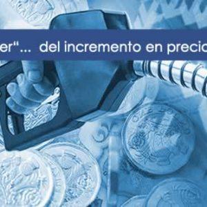 Aumento del precio del Diesel en Transporte profesional
